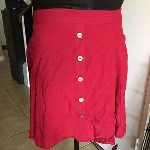 NWOT Modcloth Skirt - XL - Raspberry